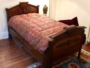 18th Century Beautifully Hand Carved Irish Single Bed