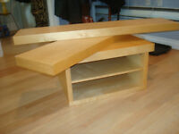 IKEA TV STAND OR COFFEE TABLE PLUS 2 FLOATING SHELVES