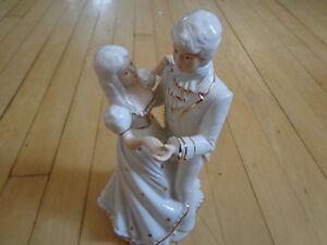 Porcelain Glass Figurine Couple Dancing Music Box