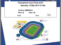 2 Champions Cup Tickets 2017