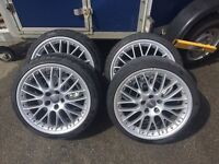 "Audi bbs split rim 19"" alloys"