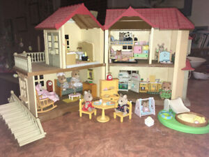 Calico critters family townhouse
