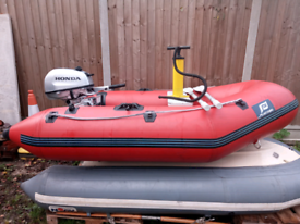 Plastimo dinghy with honda outboard rib sib boat inflatable