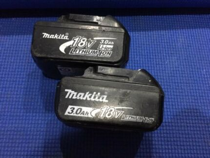 Makita 18V 3.0Ah Batteries (x2)