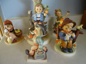 Vintage Hummel Figurines Lamp, W Germany, Some have Condition Is