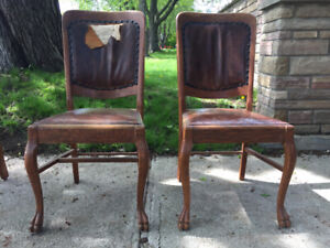 Antique dining room chairs  - Chaises salle à manger antiques