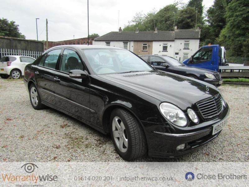 MERCEDES E CLASS E270 CDI AVANTGARDE, Black, Auto, Diesel, 2003, DRIVES SUPERB