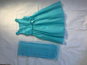 GORGEOUS teal party dress – worn once for a wedding