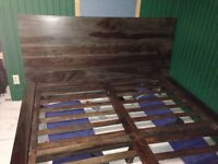 Queen size bed frame 100% Rosewood