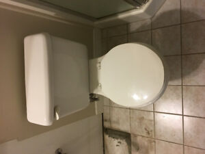 Toilet, Clean and White.