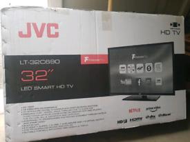 tv 32inch brand new jvc smart Wi-Fi HD unopened