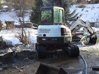 Bobcat/excavator and dump trailer services