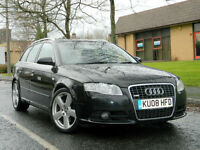 2008 08 Audi A4 AVANT 2.7 TDI S Line Multitronic 5dr WITH FSH+HIGH SPEC