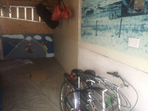 Cheap, secure motorcycle storage in garage for $30/month