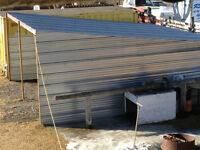 Three sided heavy gauge metal carport - Must be moved - only$800