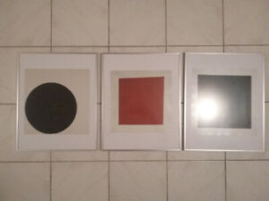 new modern art work decor 3 piece. bauhaus design