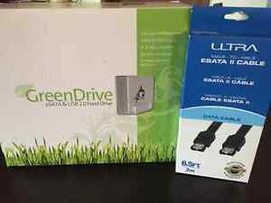 2TB Fantom Drive GreenDrive Quad & ESATA Cable - Unopened
