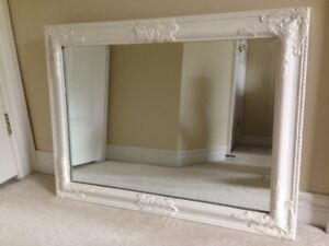 ANTIQUE VINTAGE  BEVELLED Glass Mirror with WOOD Frame