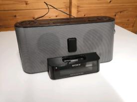 Sony iPod dock clock radio speaker alarm