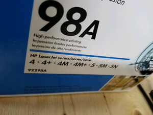 HP 98A Toner. Brand new but open