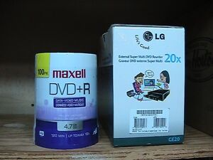 100 blank Rewritable DVDs