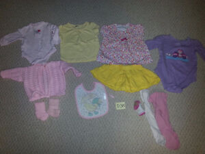 Girl's Sizes 0-3M, 3M, 3-6M, & 6-9M Clothing Items for Sale!