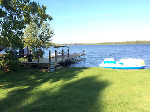 Beach front Cottage rental on Betula lake in the Whiteshell