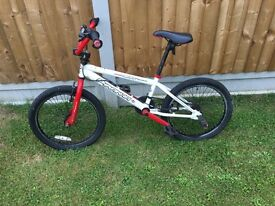 Piranha Red and white BMX