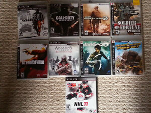 PS3 GAMES $5 EACH or 3 for 10$