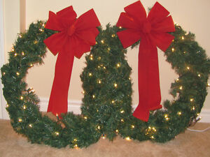 Christmas Wreaths with Lights