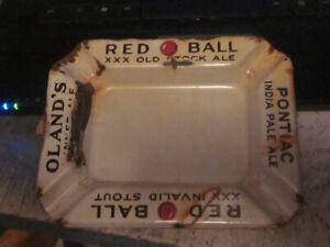 Red Ball Invalid Stout/Pontiac India Pale Ale Porcelain AshTray