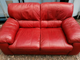FREE DELIVERY 2 seater leather sofa