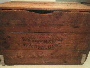 Antique crate from Harrods of England