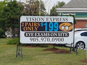PRINTED MOBILE SIGNS - PORTABLE SIGNS - STREET SIGN RENTALS