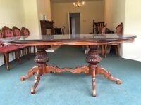Old Italian style mahogany dining tabke
