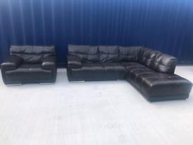 Stunning Italian leather sofa Violino Brown Italian Leather Suite Cor