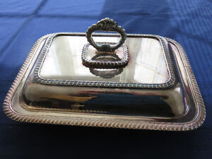 Silver chafing dishes with glass inserts