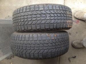 2 tires 205/55r16 Firestone winterforce