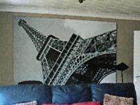 Canvas print of the Eiffel Tower Paris.
