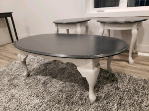 Refinished Coffee Table & End table set