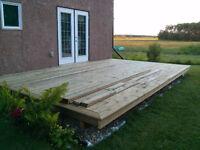 New construction, Renovations, Decks