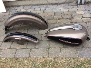 Harley sportster gas tank and fenders