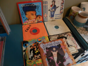 """Vinyl Records The Culture Club 45 RPM 7"""" Singles Lot of 7 Sleeve"""