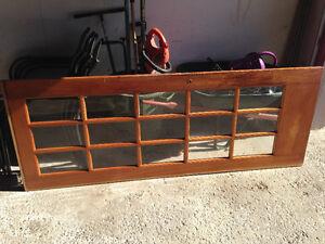30 Inch Pocket Door, solid wood with Glass