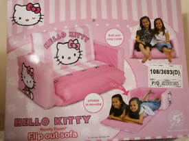 New in box hello kitty flip out sofa