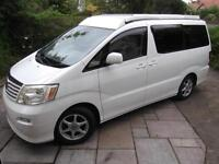 TOYOTA ALPHARD CAMPER VAN, 2014 COVERSION, 4 BELTS, AIR CON, EXCELLENT