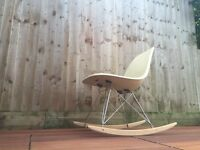 Vintage original Herman Miller Eames DSR rocking chair