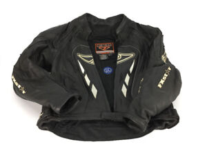 Men's leather motorcycle jacket FX star size small