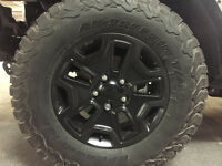 Jeep Wrangler Rims and Tires (265/70R17) Set of 5!