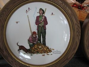 NORMAN ROCKWELL PLATES WITH FRAMES